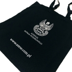 Military Property Agency. Dark blue cotton bag with print. Bags with AMW print. Advertising bags