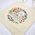 Promotional bags with a print: Płock Civic Budget. Colorful cotton bags with print. Full-color project of the 7th edition of the Płock Civic Budget.