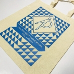 Branch of the Warsaw University of Technology in Płock - Printed cotton bag. WBMiP branch logo. Ecru bag - natural color.