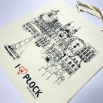 I love my City Płock - Cotton bag with print. Bags with their own graphics and print. High quality cotton carrier bags.