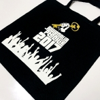 Juwenalia Płockie 2017. Cotton shopping bag with its own print, Warsaw University of Technology, branch in Płock. Black cotton bags with graphics by Juwenalia Płock.