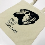 Cotton bag with print. Advertising bag. Cotton bags with a black graphic. A cotton shopping bag with your own print