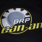 Embroidered hoodie with custom logo - top quality embroidery from Poland. Can - Am BRP sweatshirt