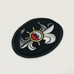 Embroidered patches with the selected logo. high quality embroidery