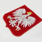 The coat of arms of Poland. embroidery on t-shirts, polo shirts with embroidery on chest.