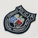 emblem, stripe, unit crest. Polish Police embroidery, marking uniforms.