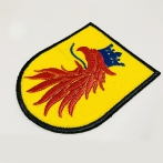 Embroidered patch, Embroidered coat of arms, computer patches from Poland. High quality colorful embroidery