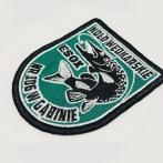 Koło wędkarskie PZW ESOX nr 106 w Gąbinie. Haft na kurtkach i bluzach, naszywki. Haftowane logo, herb, Poland