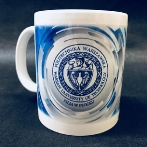Colorful cups for Warsaw University of Technology. Porcelain mug with full color print for the students