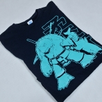 T-shirt with print. Screen printing in one color. T-shirts with your own graphics