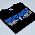Screen printed black t-shirt for Wisla Plock football club. t-shirts for sport team Wisla Plock fan