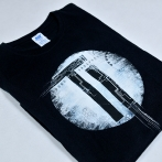 T-shirt with the logo of The Interbeing music group. Separation screen printing on T-shirts.