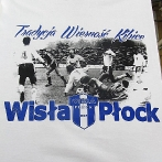 Screen printed t-shirt for Wisla Plock football club. Design with halftones. Blue colour printed with 3d base.